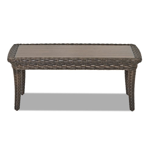 Klaussner Outdoor Sycamore Rectangular Outdoor Cocktail Table Design Interiors Outdoor