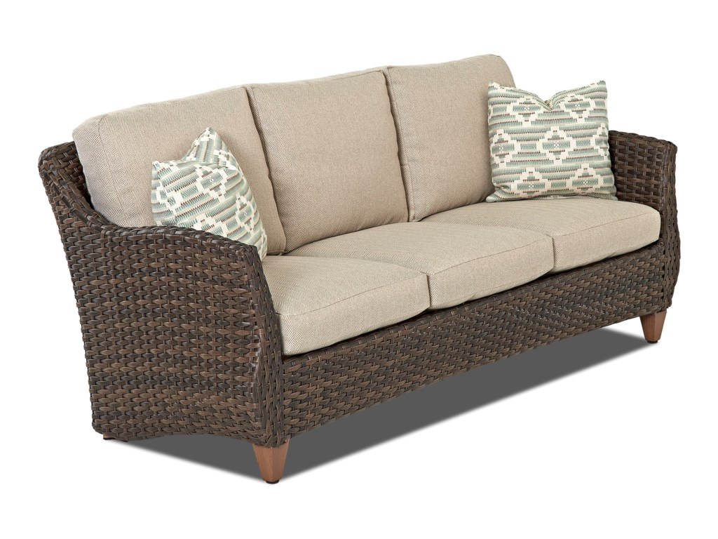 Klaussner Outdoor SycamoreOutdoor Sofa with Reversible Cushions