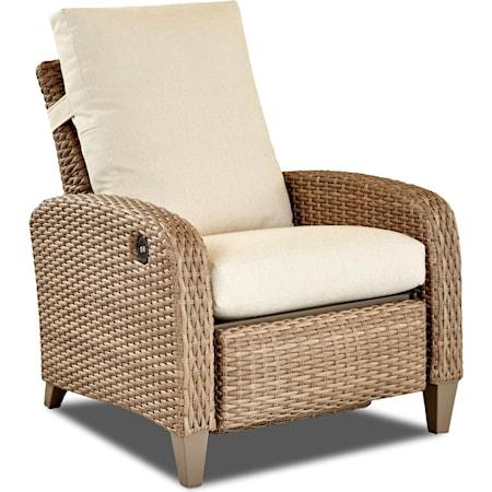 Power High Leg Recliner w/Drainable Cushion