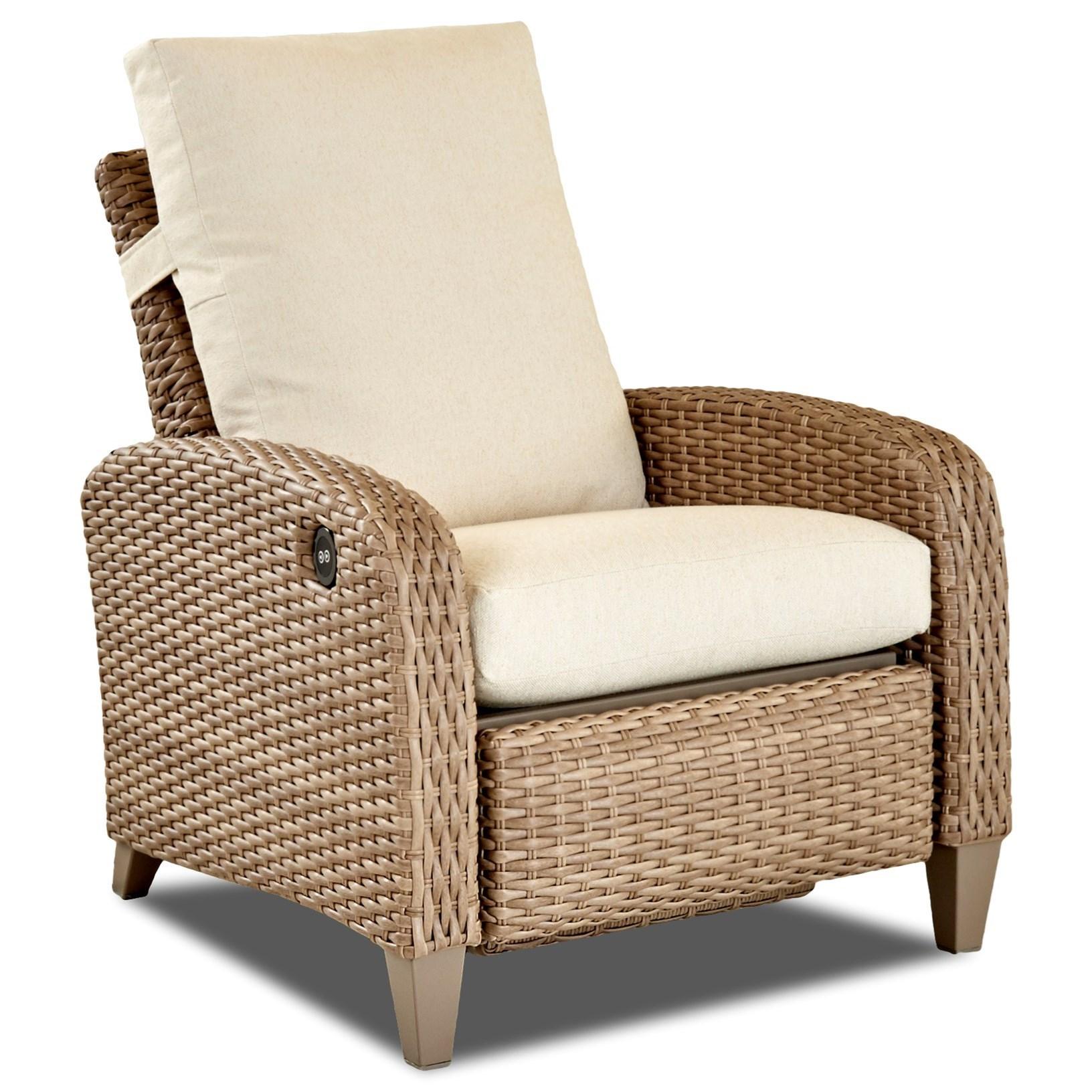 Merveilleux Klaussner Outdoor TidepointePower High Leg Recliner W/Reversible Cushion