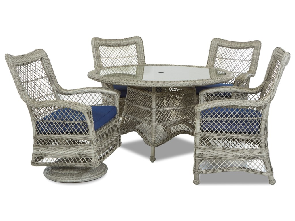 Klaussner Outdoor Willow5 Pc Outdoor Dining Set