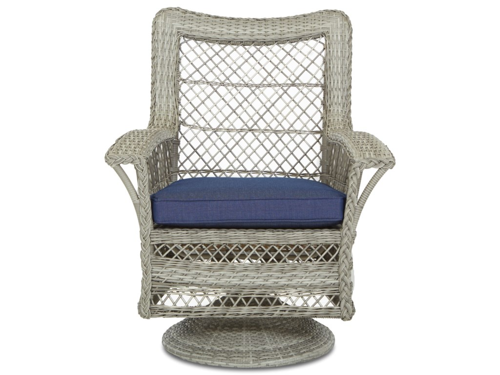 Klaussner Outdoor WillowSwivel Rock Dining Chair