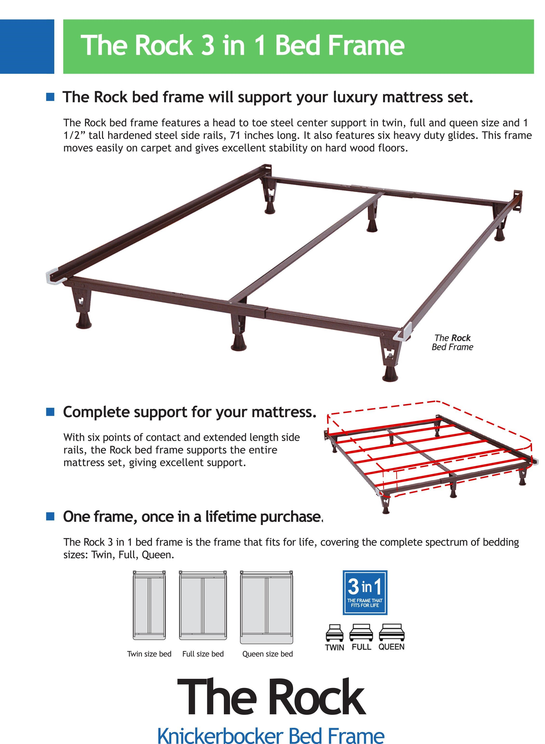 bed frames the rock bed frame by