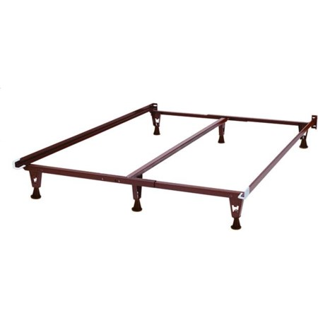 Heavy Duty Adjustable Bed Frame with Glides