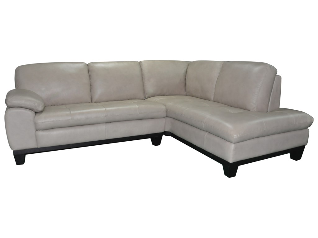Kuka Home 12632 Pc Sectional Sofa w/ RAF Chaise