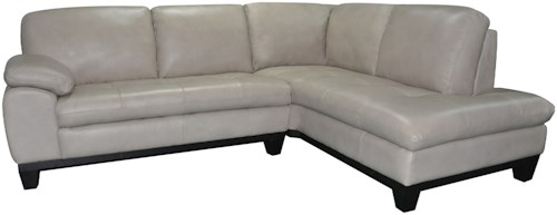 Kuka Home 1263 Two Piece Sectional Sofa with RAF Chaise