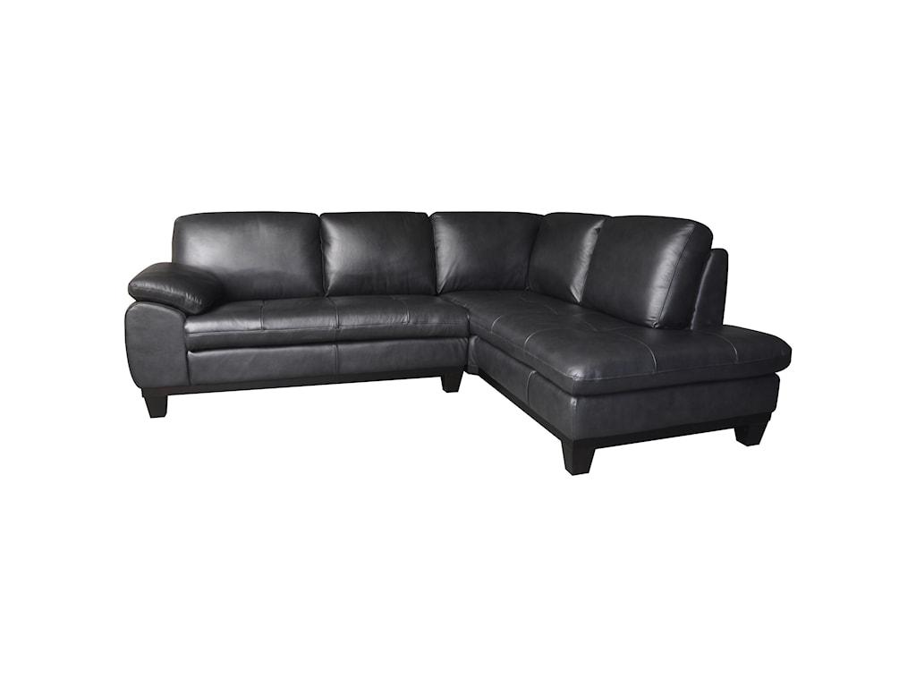Kuka Home 12632 Pc Sectional Sofa w/ RAF Chaise