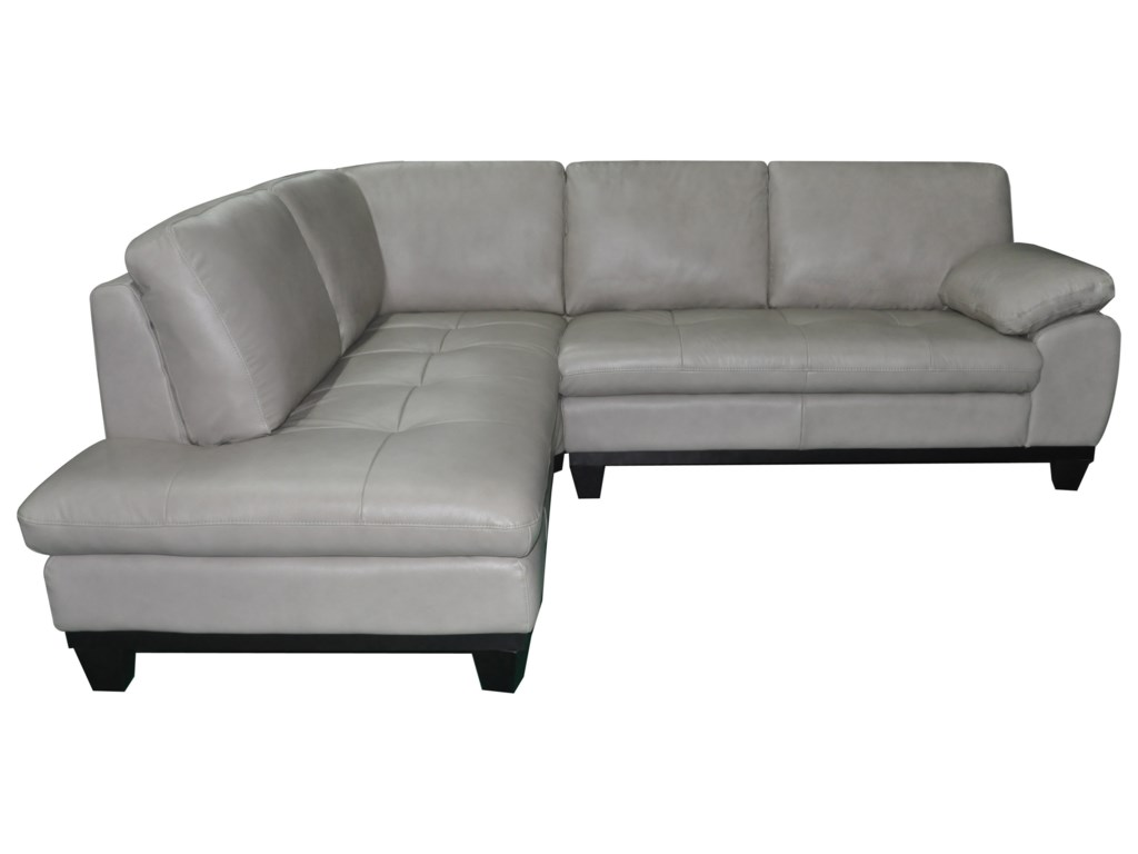 Kuka Home 12632 Pc Sectional Sofa w/ LAF Chaise
