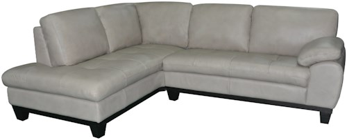 Kuka Home 1263 Two Piece Sectional Sofa with LAF Chaise