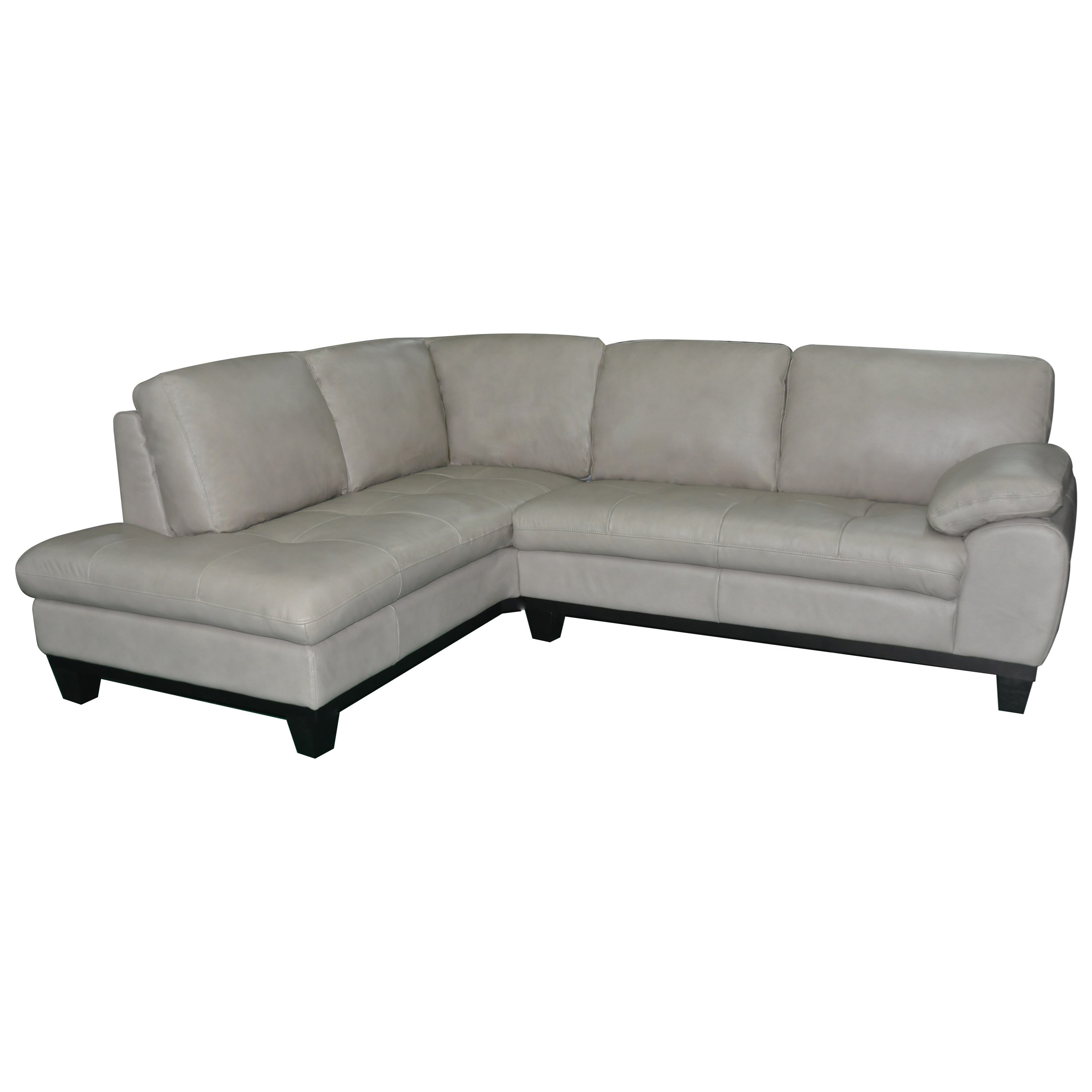 Kuka Home 1263 Two Piece Sectional Sofa With LAF Chaise   Becku0027s Furniture    Sectional Sofas