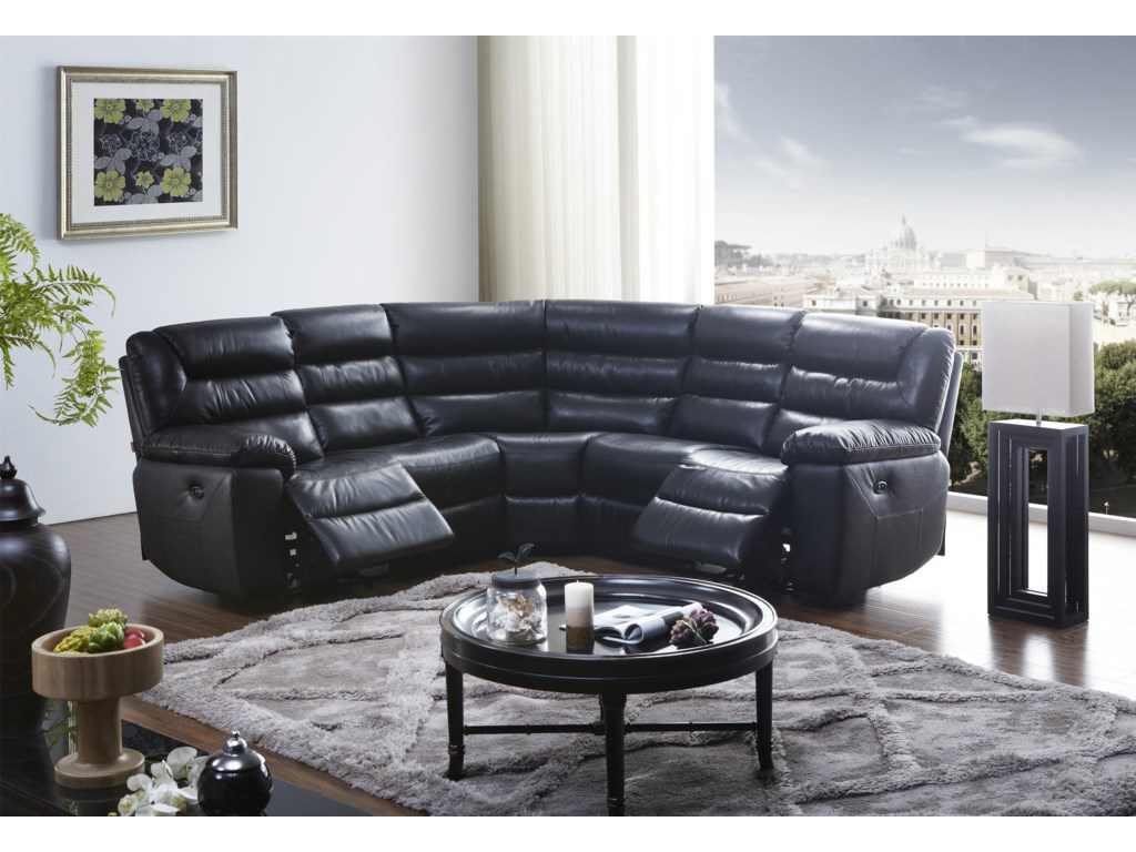 Kuka Home 17115 Pc Reclining Sectional Sofa