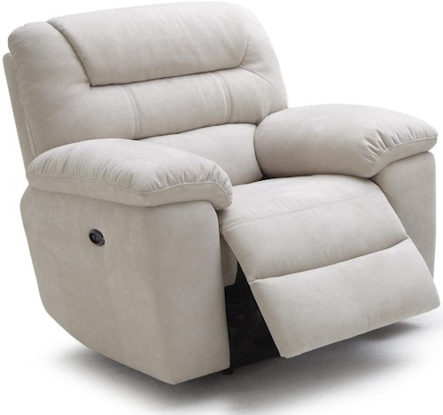 Kuka Home 1711 Casual Glider Recliner with Plush Pillow Arms