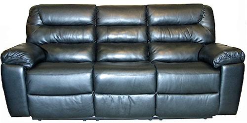 Kuka Home 1711 Casual Three Seat Dual Reclining Sofa