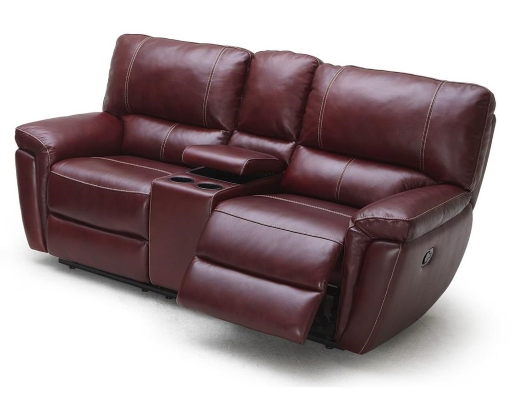 Kuka Home 1738Pwr Reclining Loveseat w/ Console