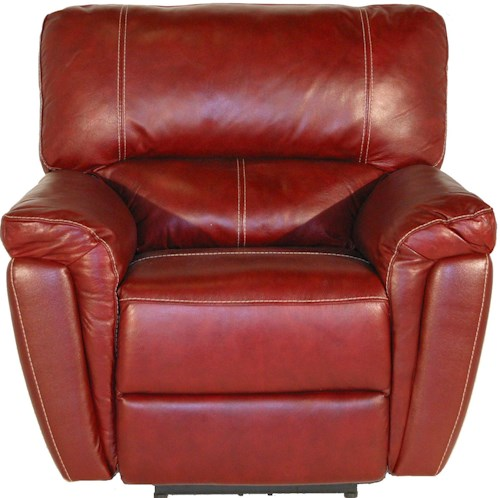 Kuka Home 1738 Casual Glider Recliner with Wide Pillow Arms