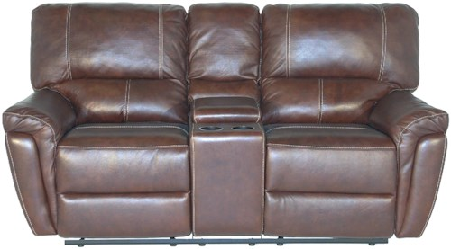 Kuka Home 1738 Casual Console Reclining Loveseat
