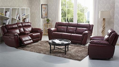 Kuka Home 1751 Reclining Living Room Group