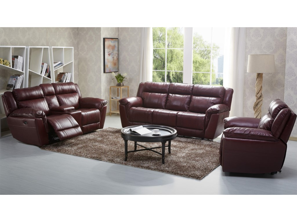 Kuka Home 1751Reclining Sofa