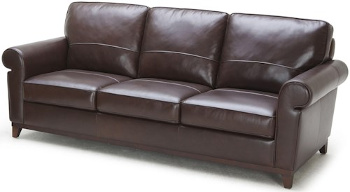Kuka Home 1781 Traditional Sofa with Rolled Arms