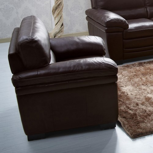 Kuka Home 1787 Casual Chair with Pillow Arms