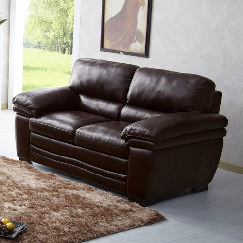 Kuka Home 1787 Casual Loveseat with Pillow Arms