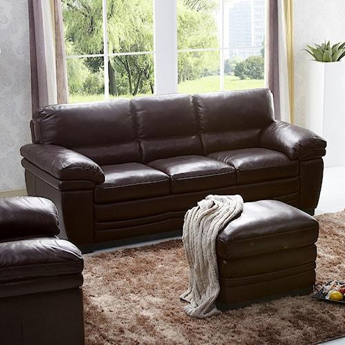 Kuka Home 1787 Casual Sofa with Pillow Arms