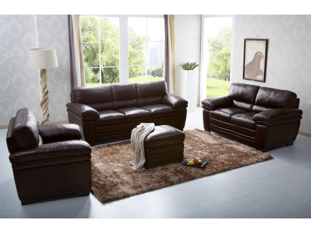 Kuka Home 1787Casual Stationary Sofa