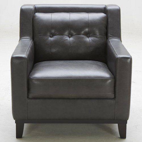 K.C. Midtown Leather Chair with Tufted Back