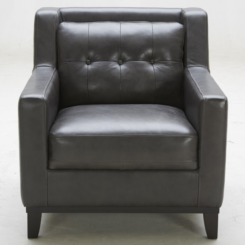 K c midtown leather chair with tufted back