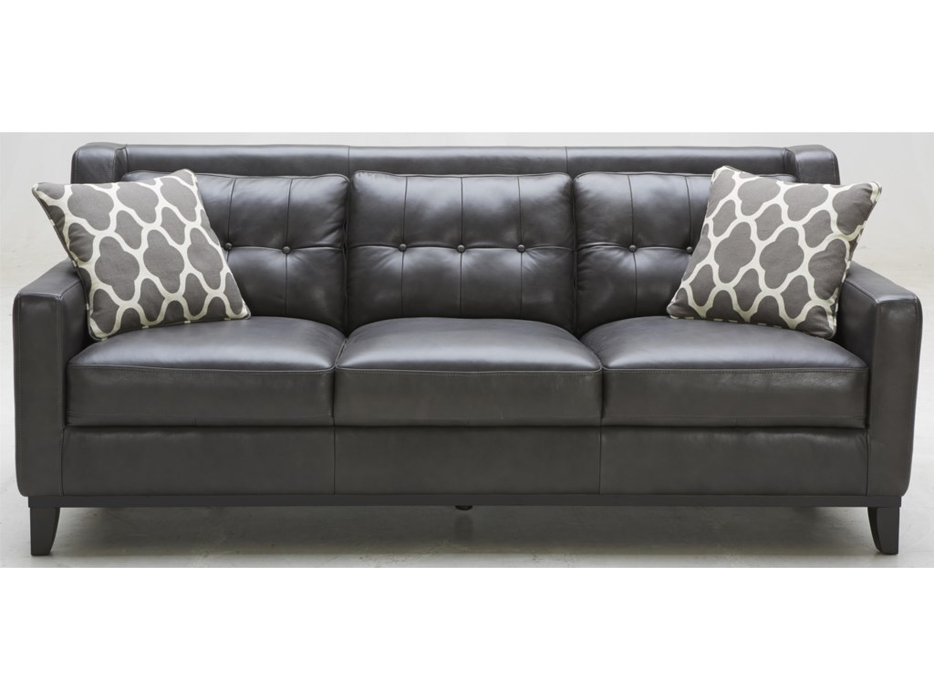 Warehouse M 1838 1838B-3(2A) Leather Match Sofa with Tufted Back ...