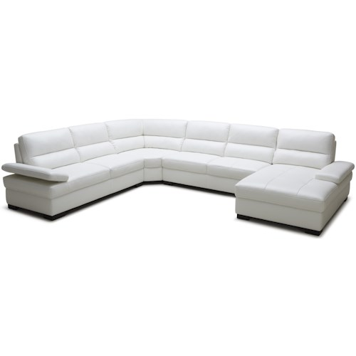 Kuka Home 1908 Contemporary Sectional Sofa