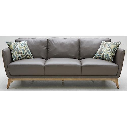 Kuka Home 1961 Contemporary Leather Match Sofa