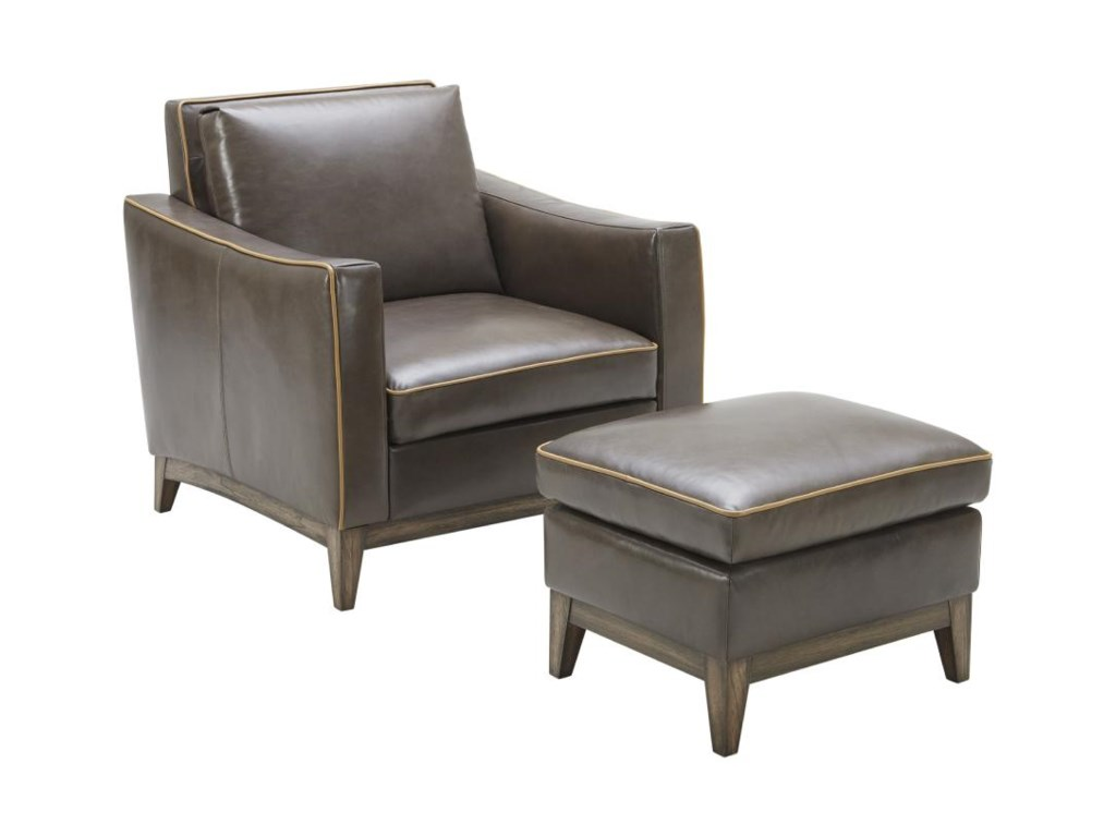 Kuka Home 1962Contemporary Chair and Ottoman Set