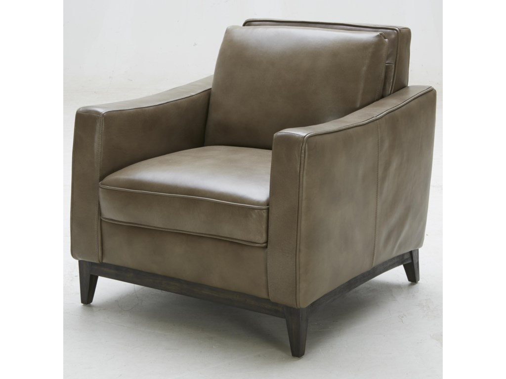 Kuka Home 1962Contemporary Leather Match Chair