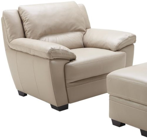 Kuka Home 1963 Casual Chair with Wide Pillow Arms