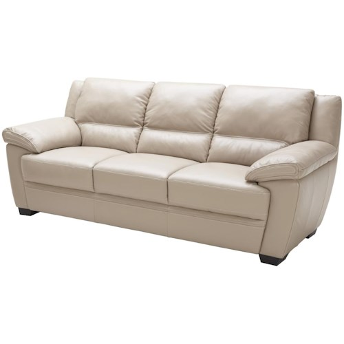 Kuka Home 1963 Casual Sofa with Wide Pillow Arms