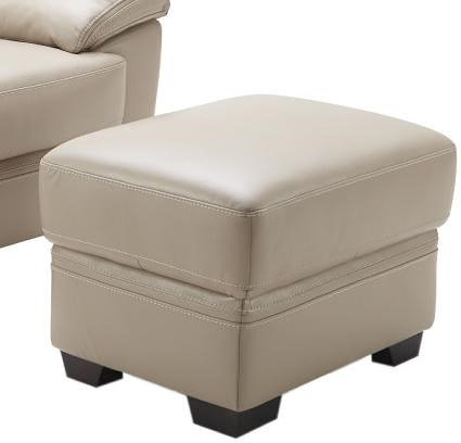 Kuka Home 1963 Casual Ottoman with Tapered Wood Feet