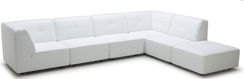 Kuka Home 3179 Contemporary Sectional Sofa