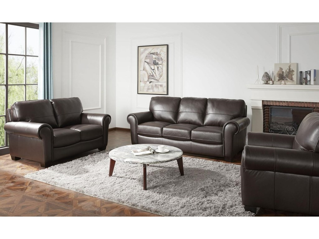 Urban Evolution TeddyLeather Loveseat