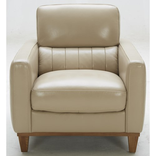 Warehouse M 5127 Contemporary Leather Match Chair