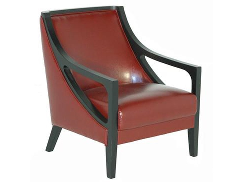 BFW Lifestyle A-738Accent Chair with Exposed Wood