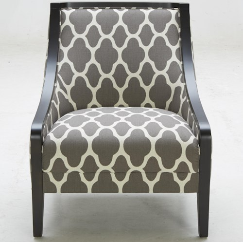 Warehouse M A-825 Traditional Accent Chair with Exposed Wood