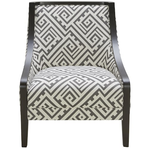 Urban Evolution Wood Trim Traditional Accent Chair with Exposed Wood