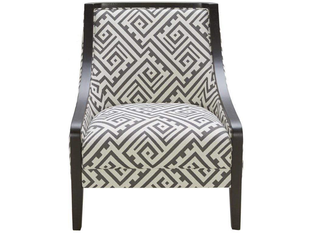Urban Evolution Wood Trim Traditional Accent Chair with Exposed Wood ...
