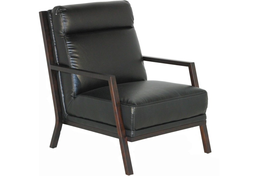 Stupendous Kuka Home A 852 Contemporary Accent Chair With Exposed Wood Machost Co Dining Chair Design Ideas Machostcouk