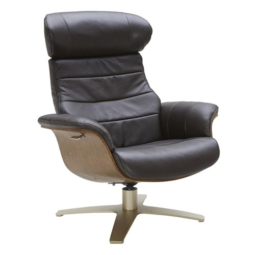 Urban Evolution Karma Leather Lean-Back Swivel Chair