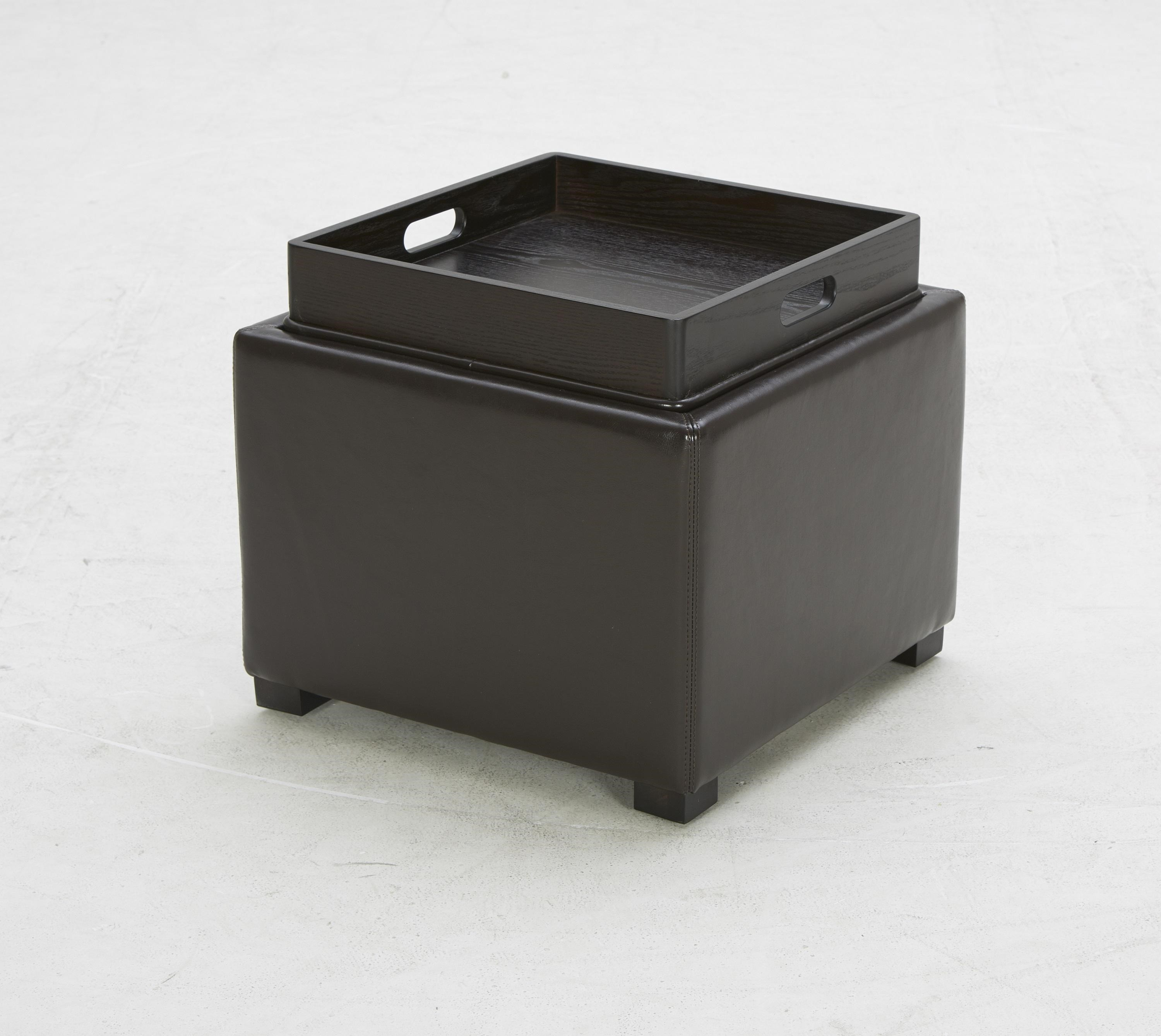 Accent Ottomans Contemporary Storage Ottoman With Built In Tray   Becker  Furniture World   Ottoman