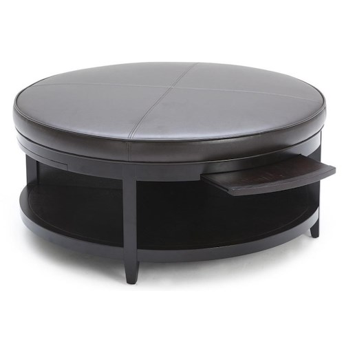 kuka home accent ottomans cocktail ottoman with shelf and. Black Bedroom Furniture Sets. Home Design Ideas