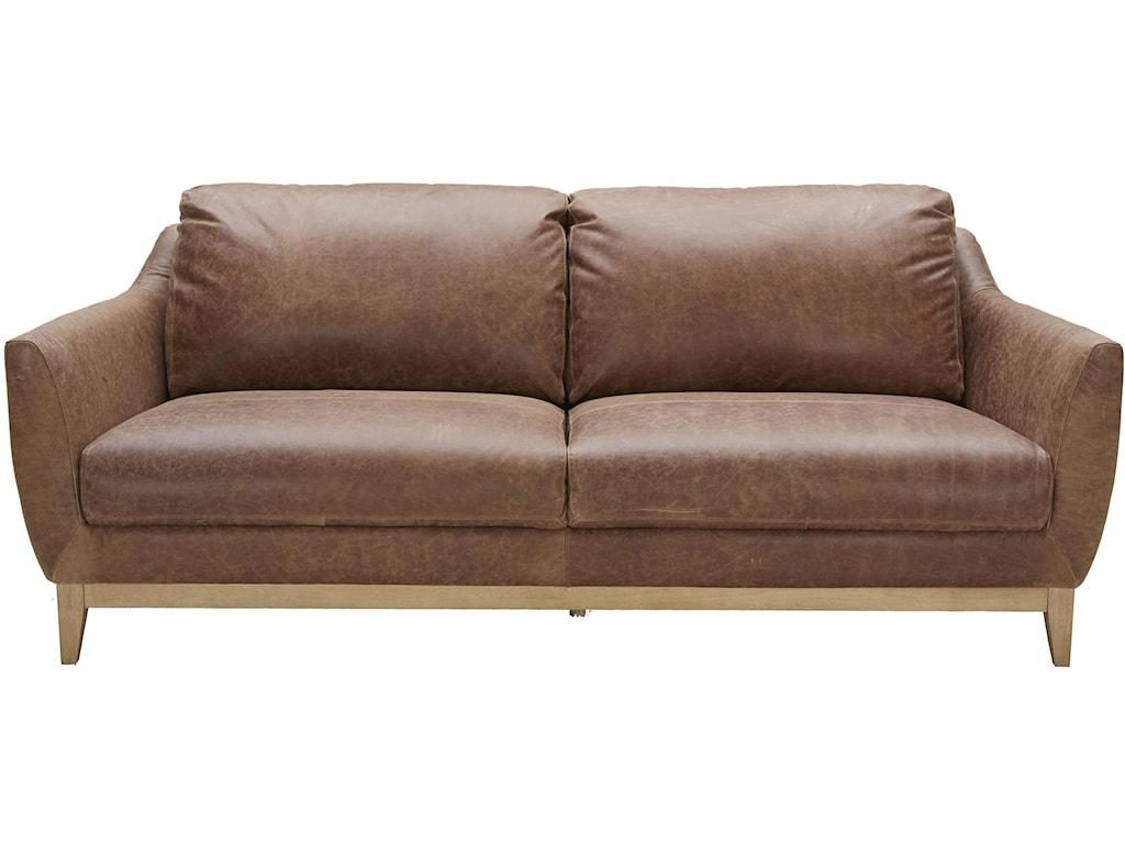 . urban evolution baker modern leather sofa  belfort furniture  sofas