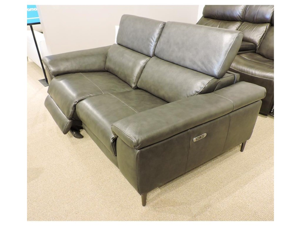 Urban Evolution Clearance-04Bryson Leather Power Loveseat